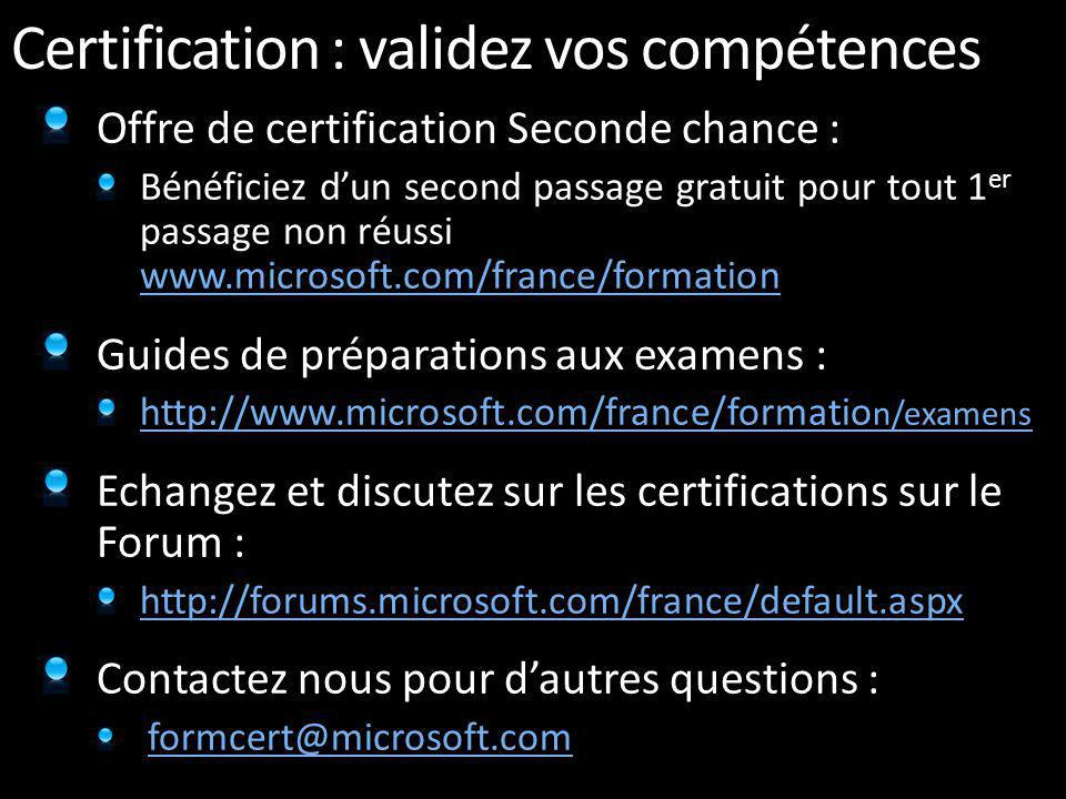 Certifications : Programme de nouvelle génération Série Architecture– le programme Microsoft Certified Architect permet aux entreprises didentifier fa