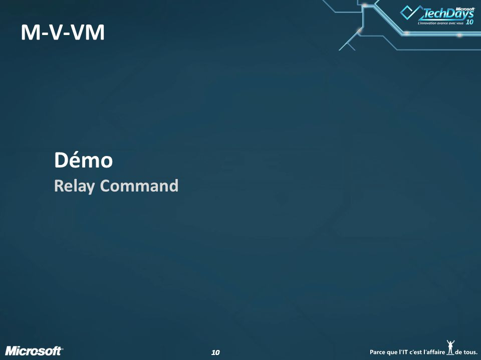 10 M-V-VM Démo Relay Command