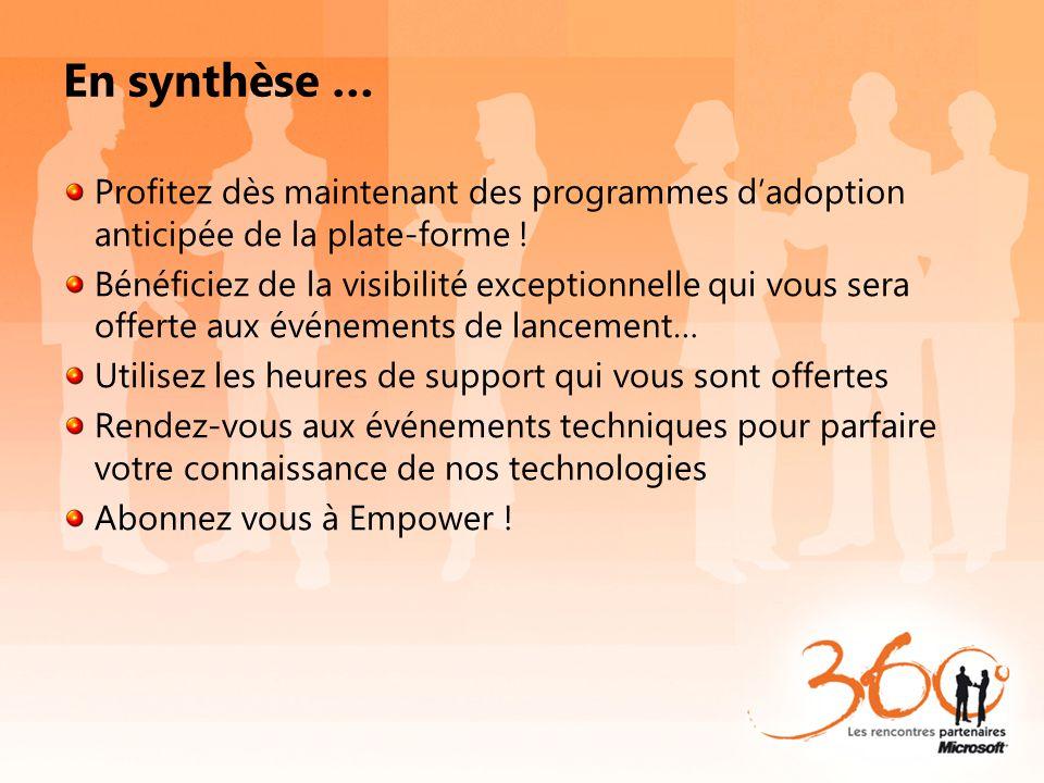 En synthèse … Profitez dès maintenant des programmes dadoption anticipée de la plate-forme ! Bénéficiez de la visibilité exceptionnelle qui vous sera