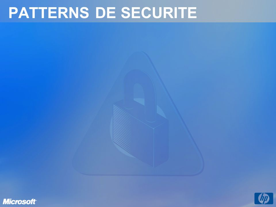 PATTERNS DE SECURITE