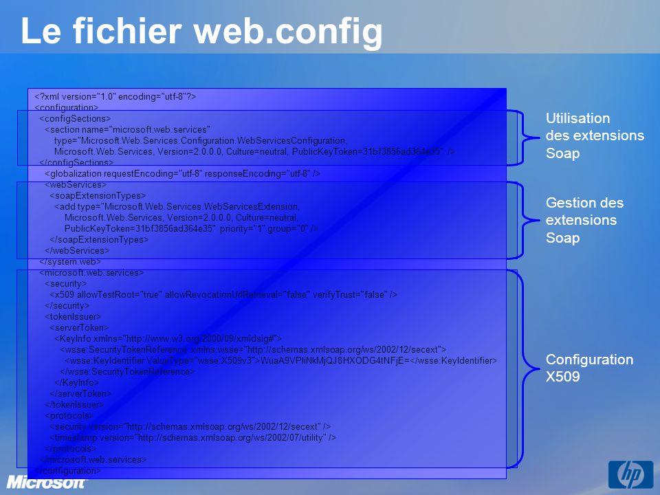 Le fichier web.config <section name=
