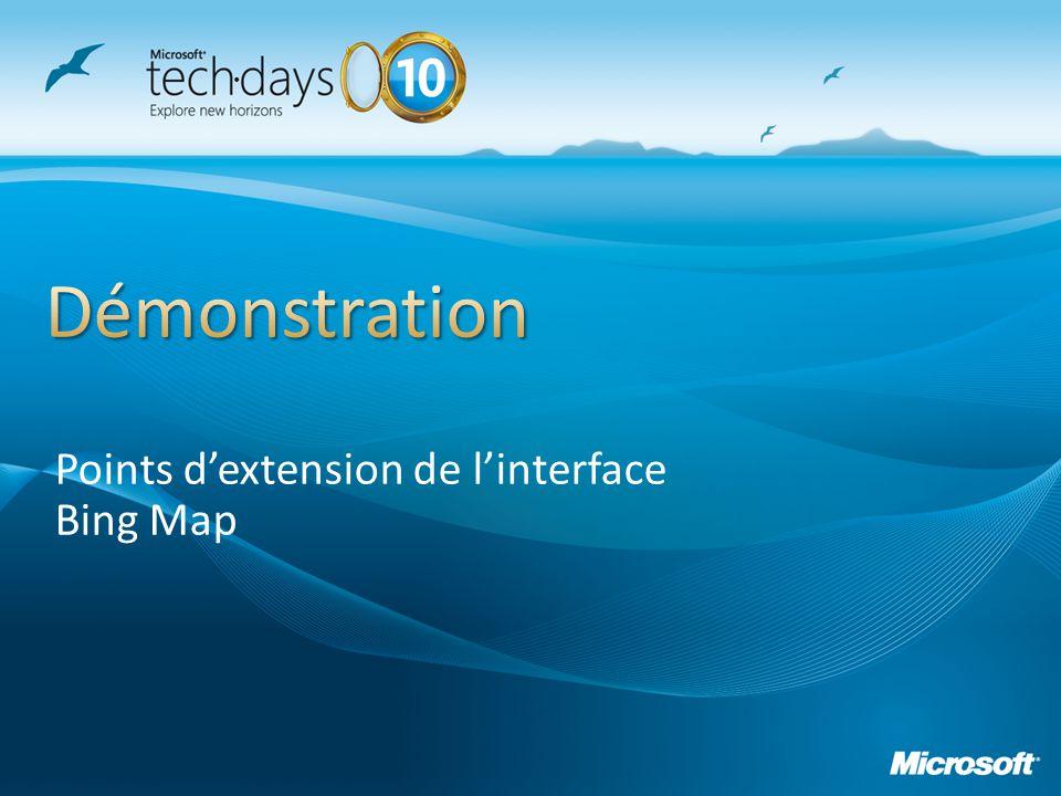 Points dextension de linterface Bing Map