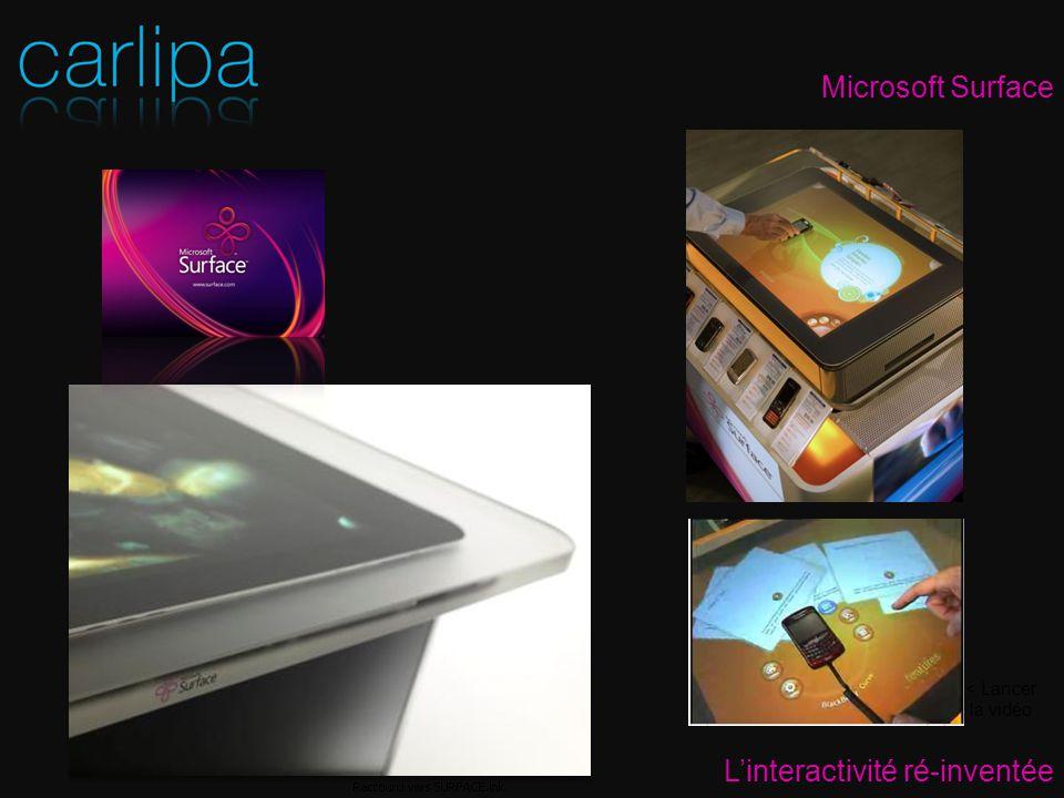 Microsoft Surface Linteractivité ré-inventée < Lancer la vidéo