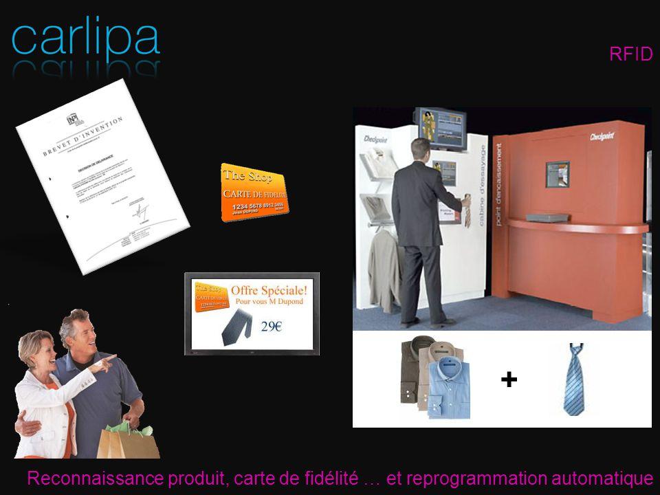 RFID Reconnaissance produit, carte de fidélité … et reprogrammation automatique +