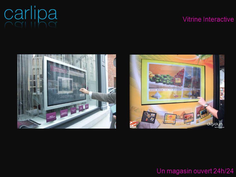 Vitrine Interactive Un magasin ouvert 24h/24