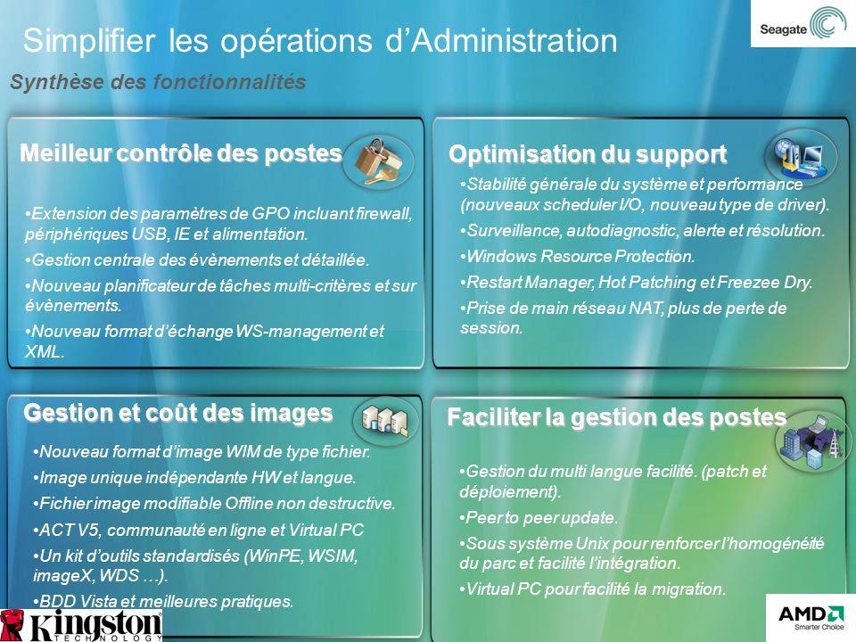 Simplifier les opérations dAdministration Faciliter la gestion des postes Gestion du multi langue facilité. (patch et déploiement). Peer to peer updat