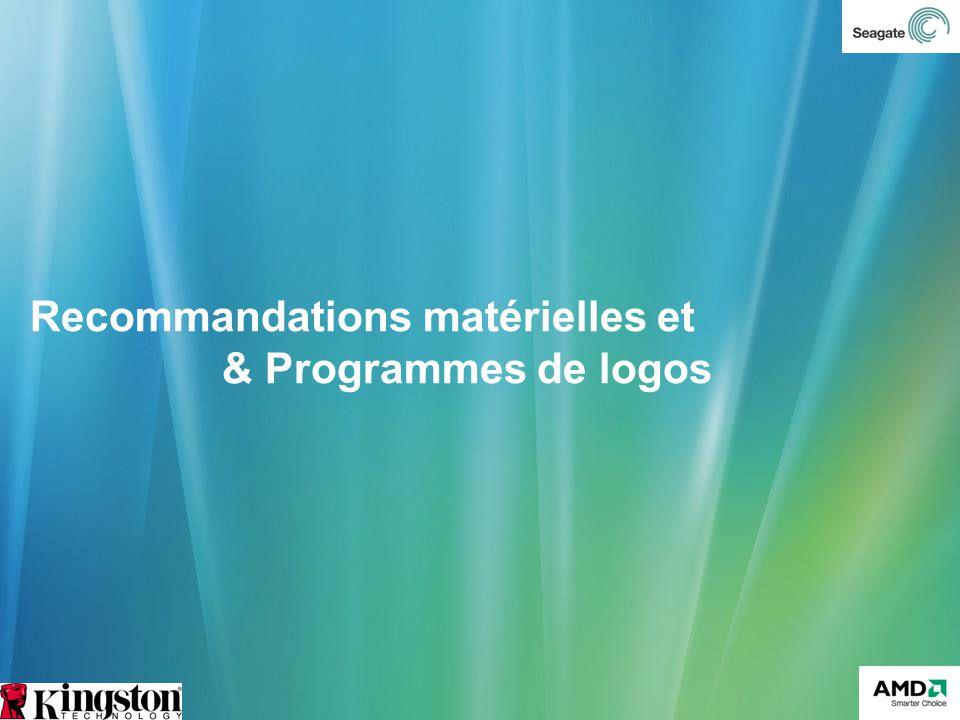 Recommandations matérielles et & Programmes de logos
