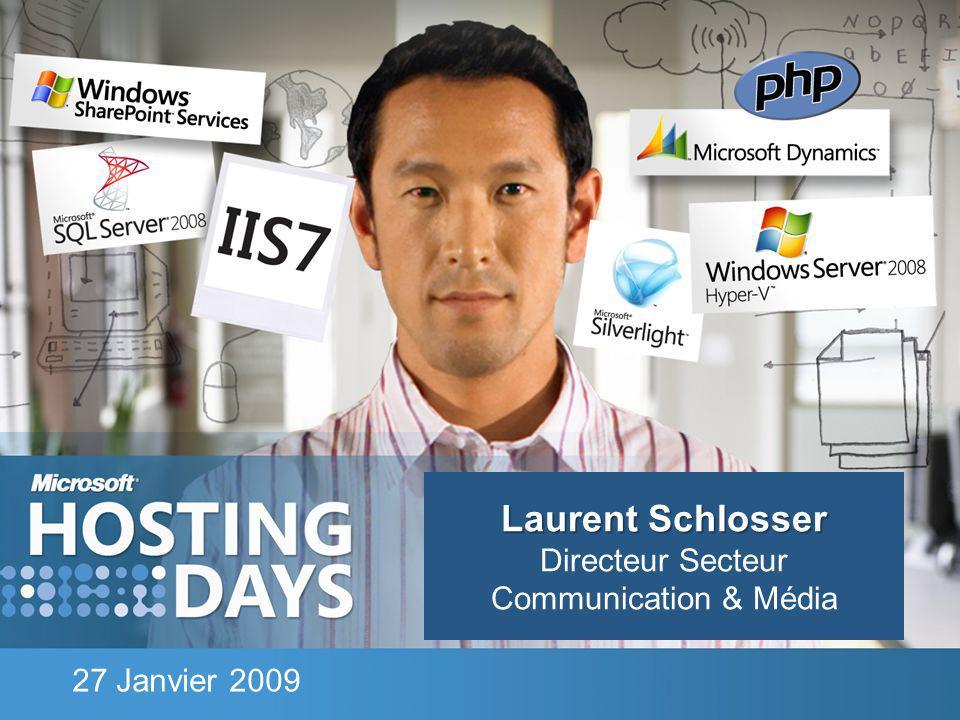 Laurent Schlosser Laurent Schlosser Directeur Secteur Communication & Média 27 Janvier 2009