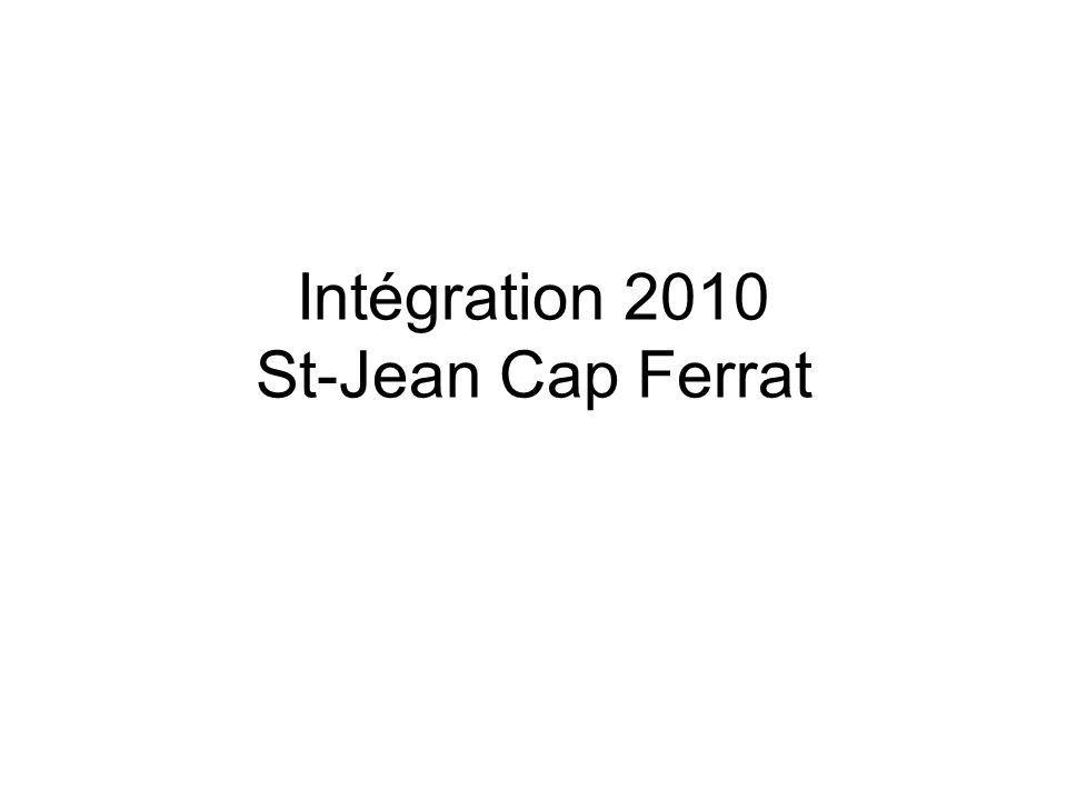 Intégration 2010 St-Jean Cap Ferrat