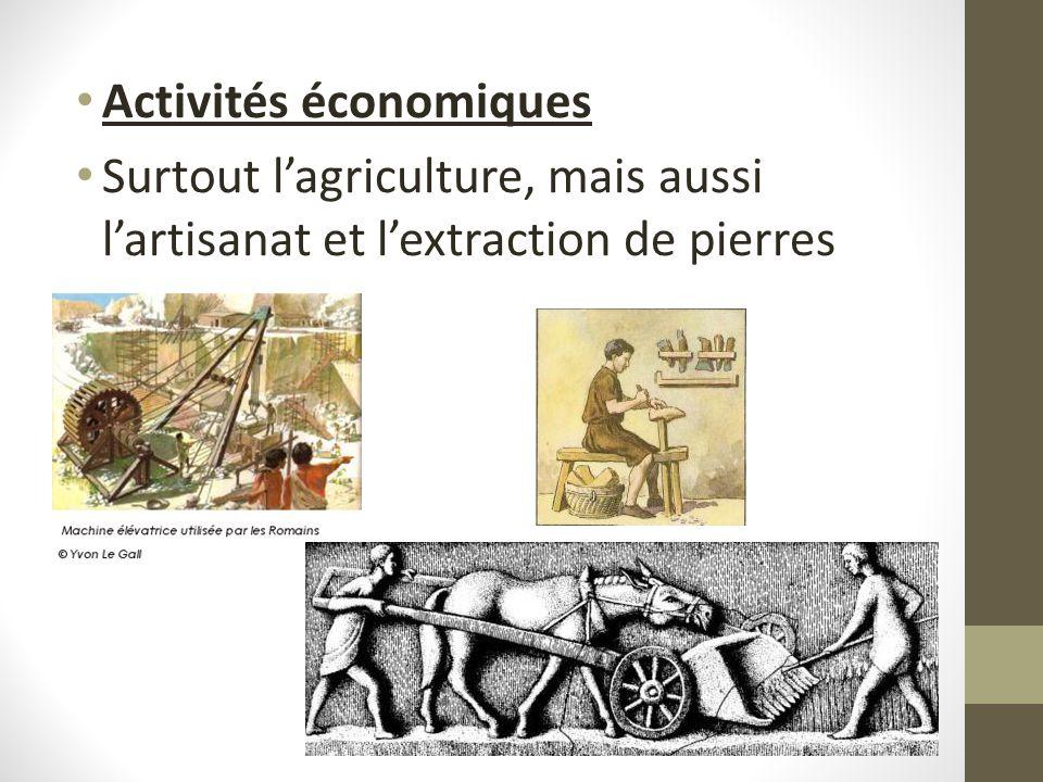 Activités économiques Surtout lagriculture, mais aussi lartisanat et lextraction de pierres