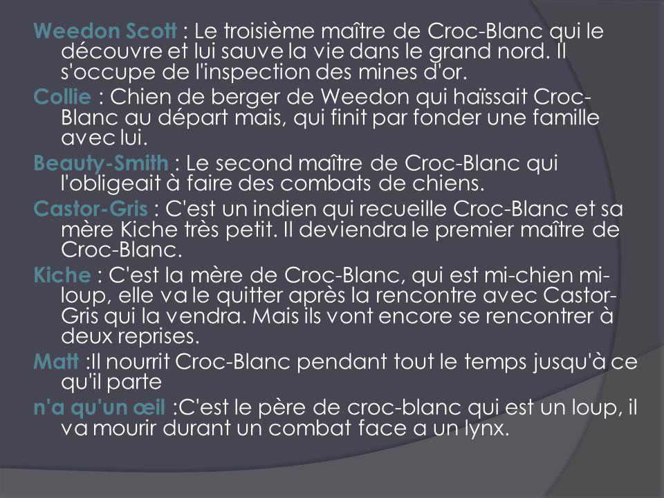 Résumé: L histoire commence avant la naissance de Croc- Blanc, un chien loup.