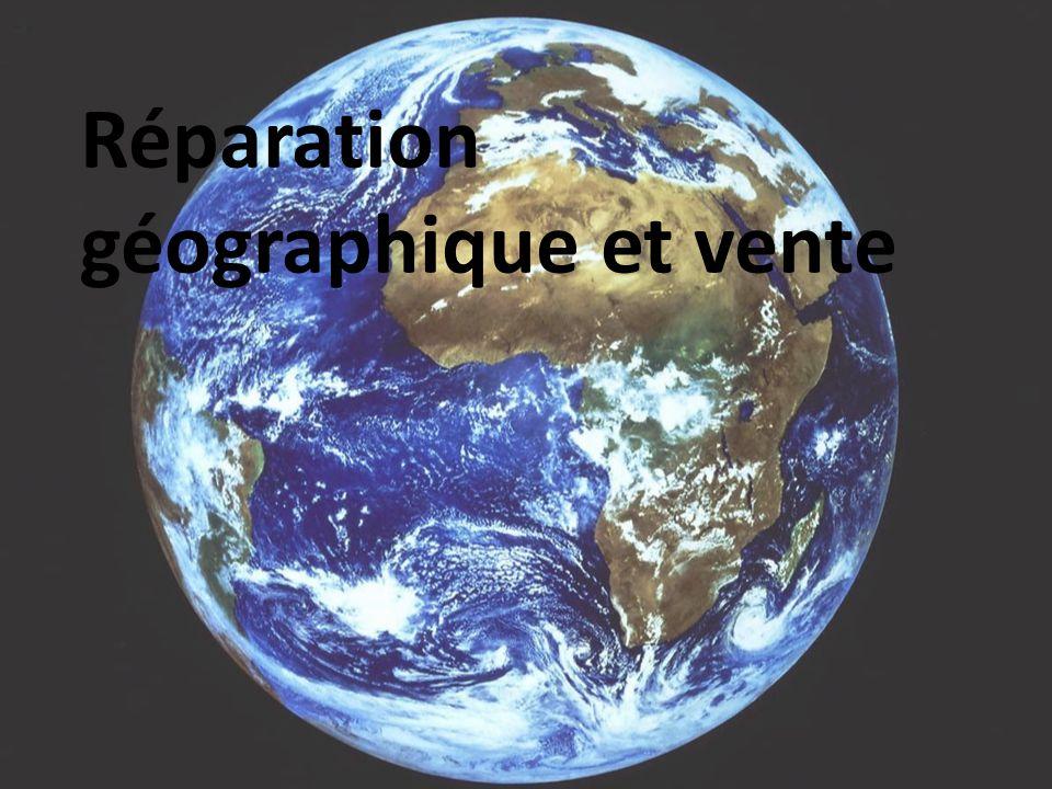 Réparation géographique et vente