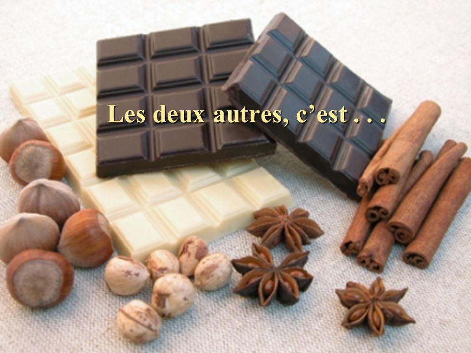 Le résultat est un nombre de trois chiffres. Le premier correspond au nombre de fois que tu as envie de manger du chocolat, dans la semaine.