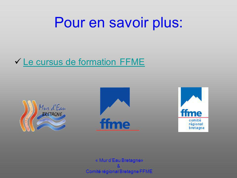 « Mur dEau Bretagne» & Comité régional Bretagne FFME Contacts Laurent BOERO 0663399330 Sites Web: