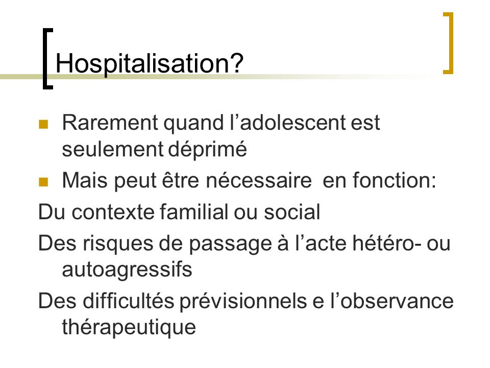 Hospitalisation.