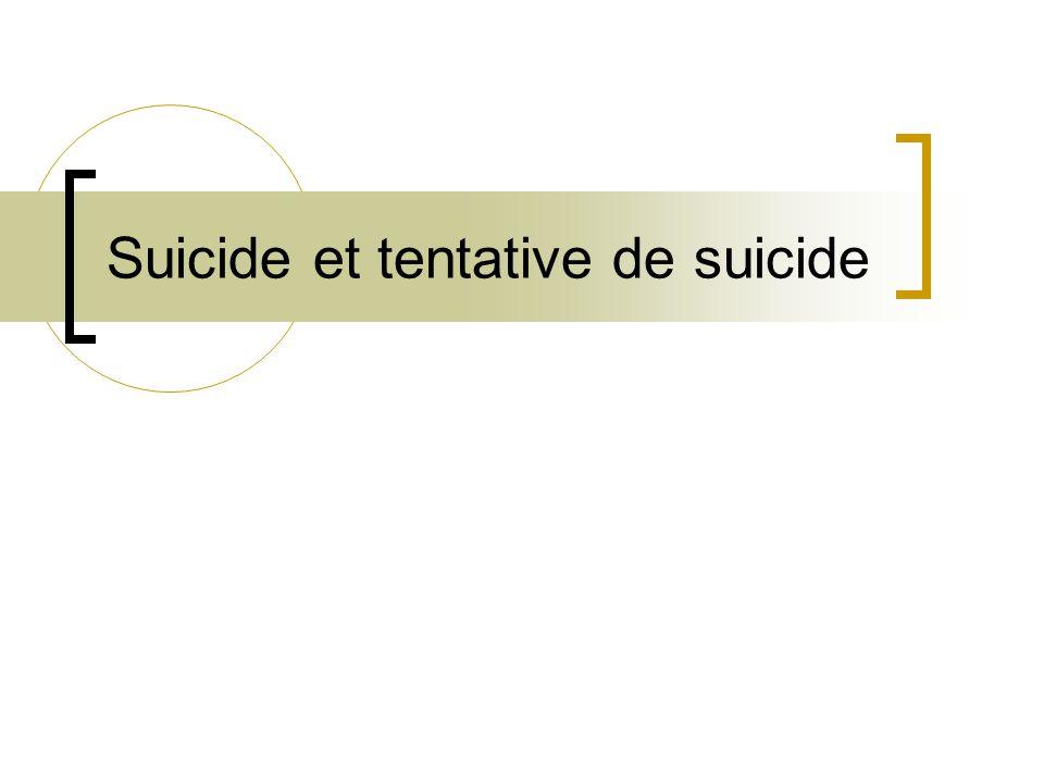 Suicide et tentative de suicide