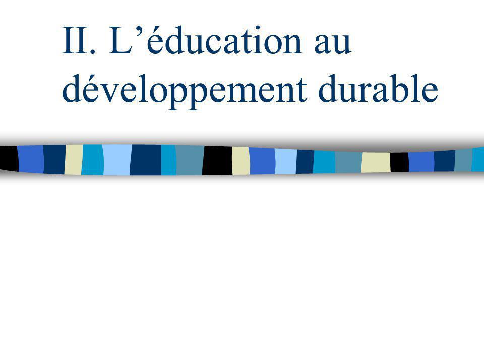 II. Léducation au développement durable