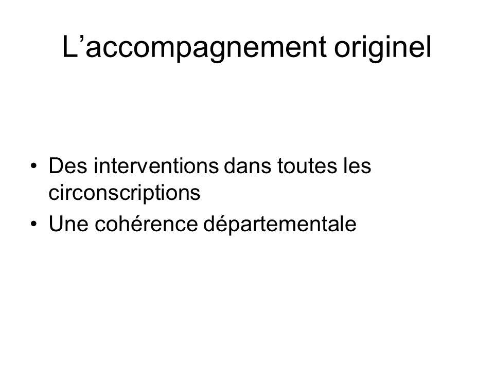 Laccompagnement originel Des interventions dans toutes les circonscriptions Une cohérence départementale