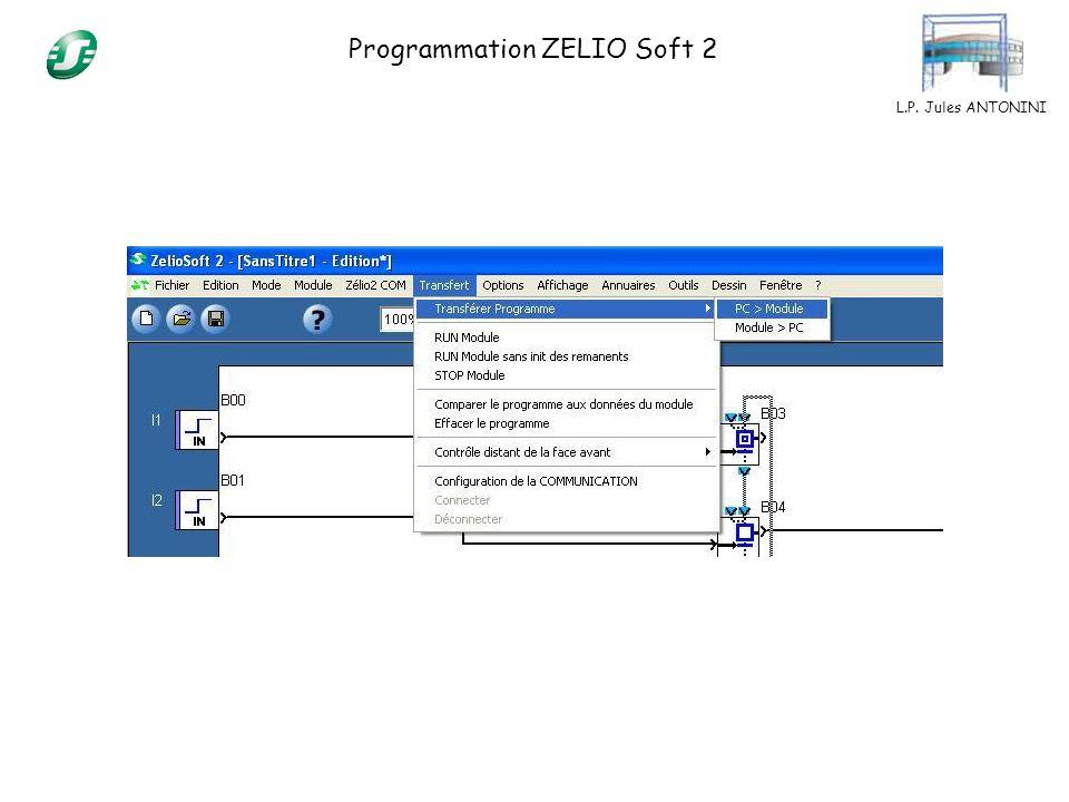 L.P. Jules ANTONINI Programmation ZELIO Soft 2