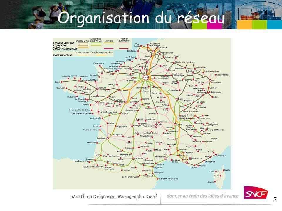 LH / I&R – - 2007 7 Matthieu Delgrange, Monographie Sncf Organisation du réseau