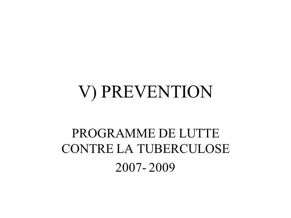 V) PREVENTION PROGRAMME DE LUTTE CONTRE LA TUBERCULOSE 2007- 2009
