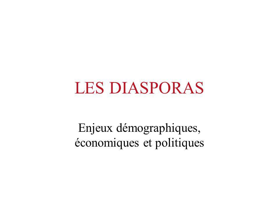 Le rôle des diasporas Dans la liaison avec les autres diasporas Dans laide aux pays dorigine Dans la régulation des migrations Dans lintégration aux pays daccueil Dans les négociations internationales sur la mondialisation