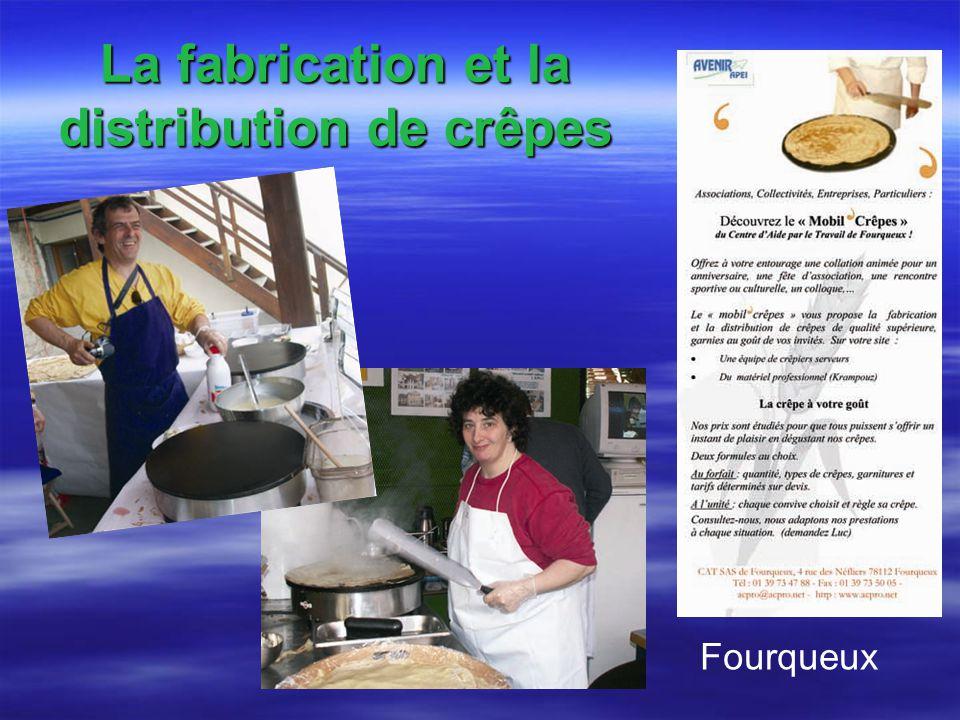 La fabrication et la distribution de crêpes Fourqueux