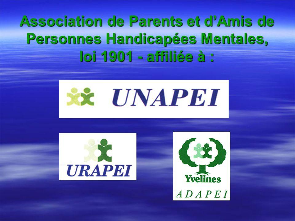 Association de Parents et dAmis de Personnes Handicapées Mentales, loi 1901 - affiliée à :