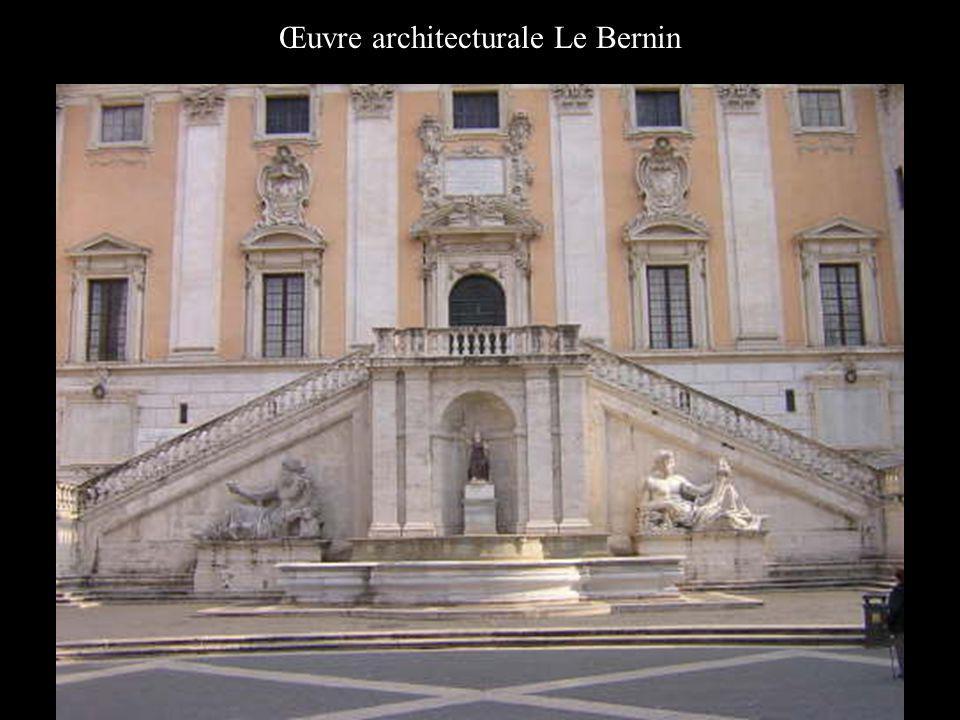 Œuvre architecturale Le Bernin