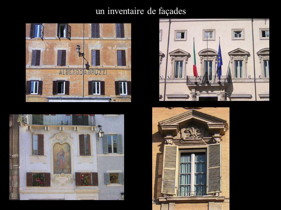 un inventaire de façades