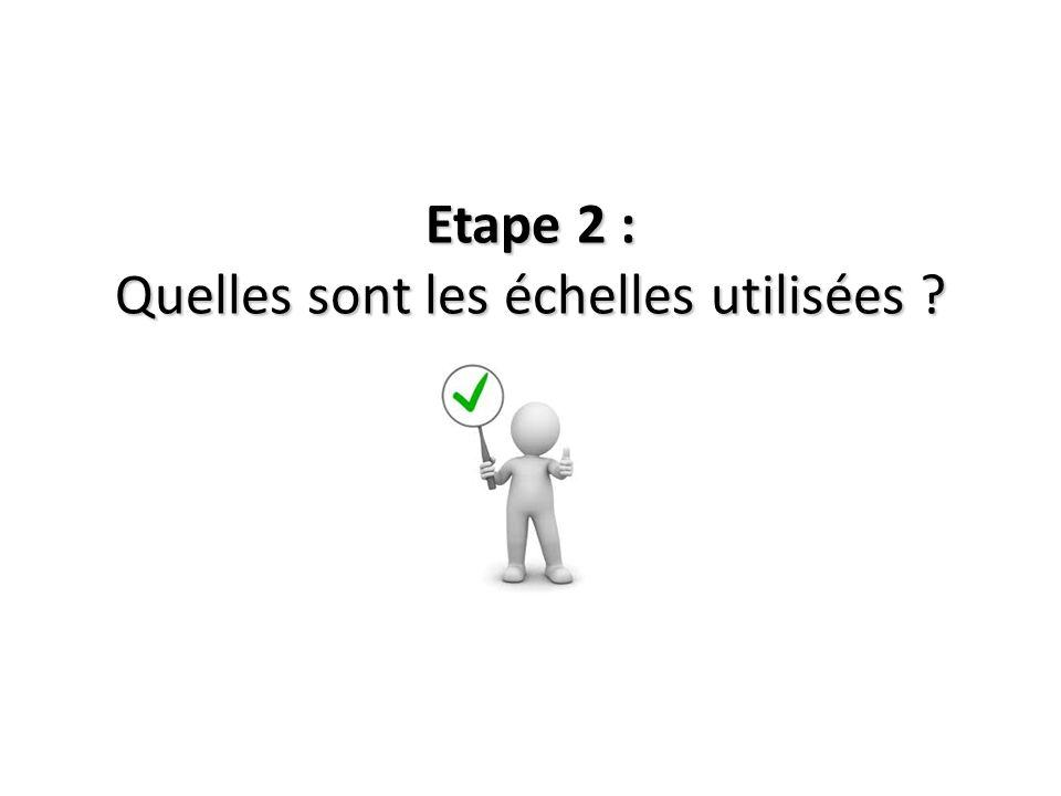Etape 2 : Quelles sont les échelles utilisées ?