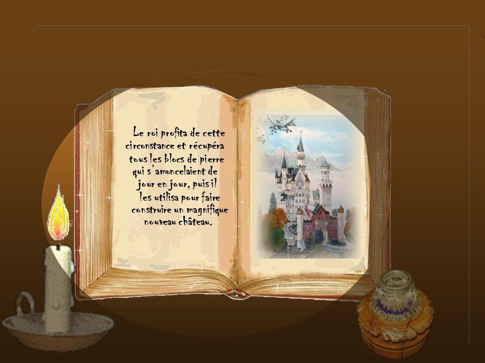 en bloc de pierre Quand la princesse essayait davaler une Friandise, celle-ci se changeait systématiquement et les salles du château se remplirent bie