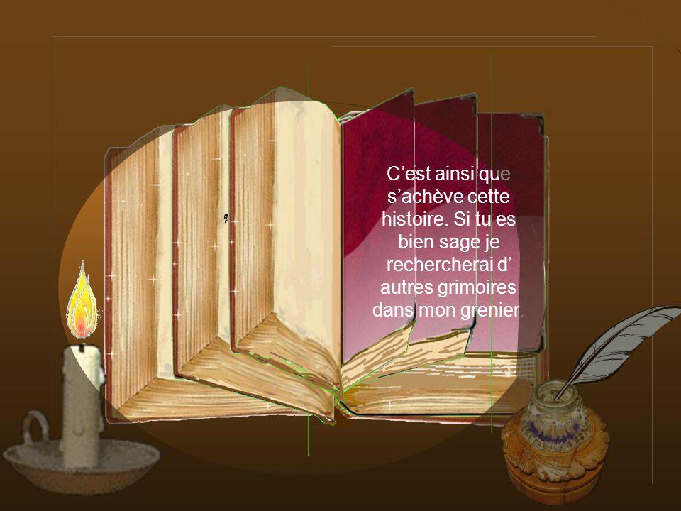 Clique pour fermer le livre de sa gourmandise, Pour récompenser sa Fille, le roi lui offrit un gros gâteau et la princesse qui était désormais guérie