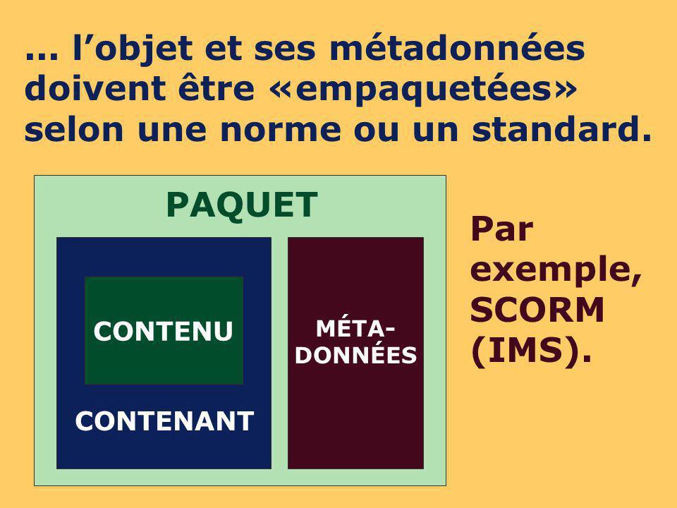CONTENU CONTENANT PAQUET MÉTA- DONNÉES...