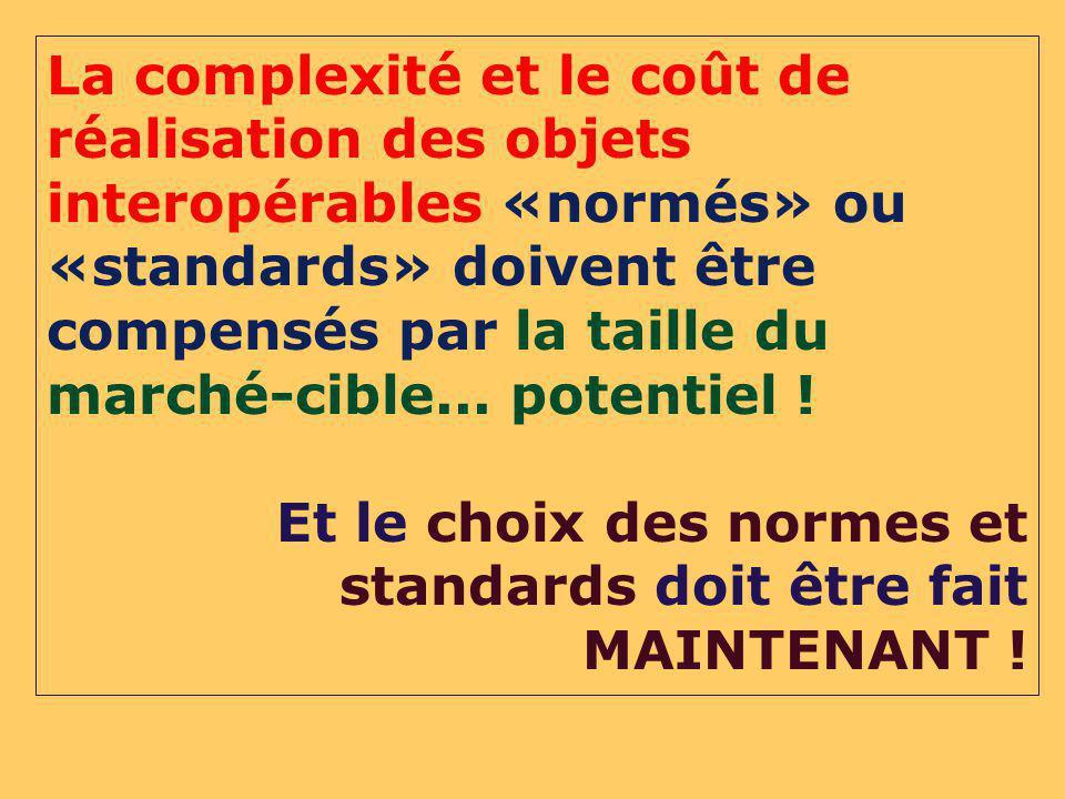 Et le choix des normes et standards doit être fait MAINTENANT !