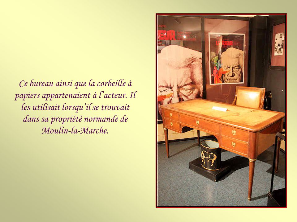Hall dentrée du musée Jean Gabin.