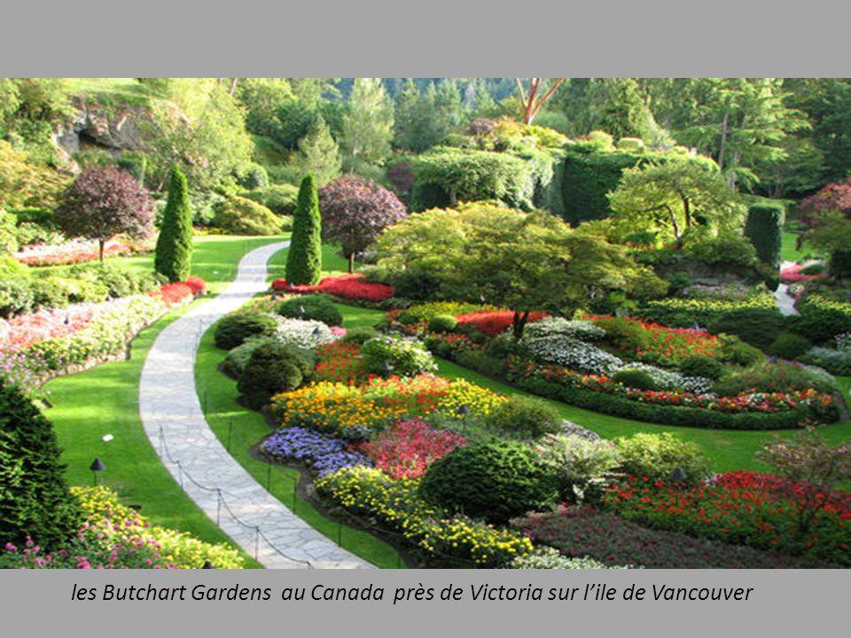 les Butchart Gardens au Canada près de Victoria sur lile de Vancouver