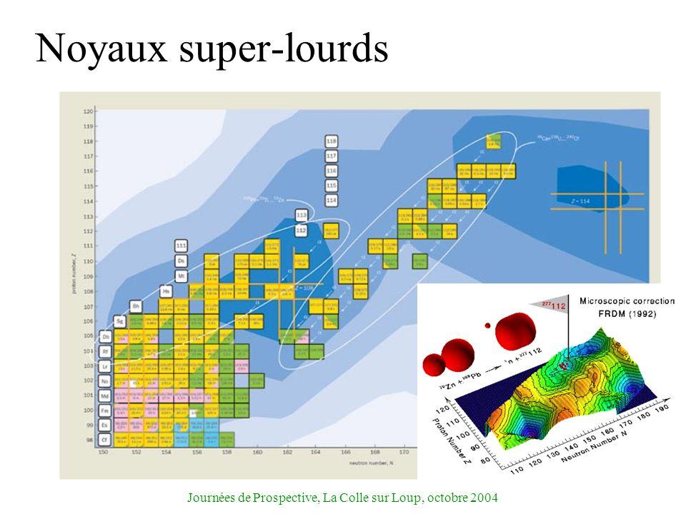 Journées de Prospective, La Colle sur Loup, octobre 2004 Noyaux super-lourds