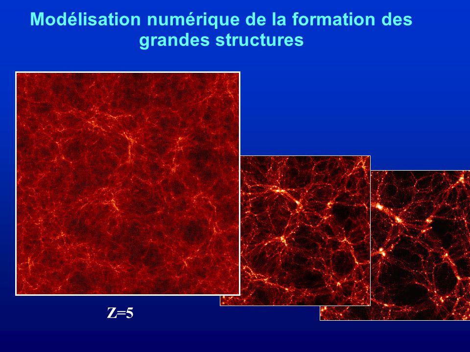 Modélisation numérique de la formation des grandes structures Z=5