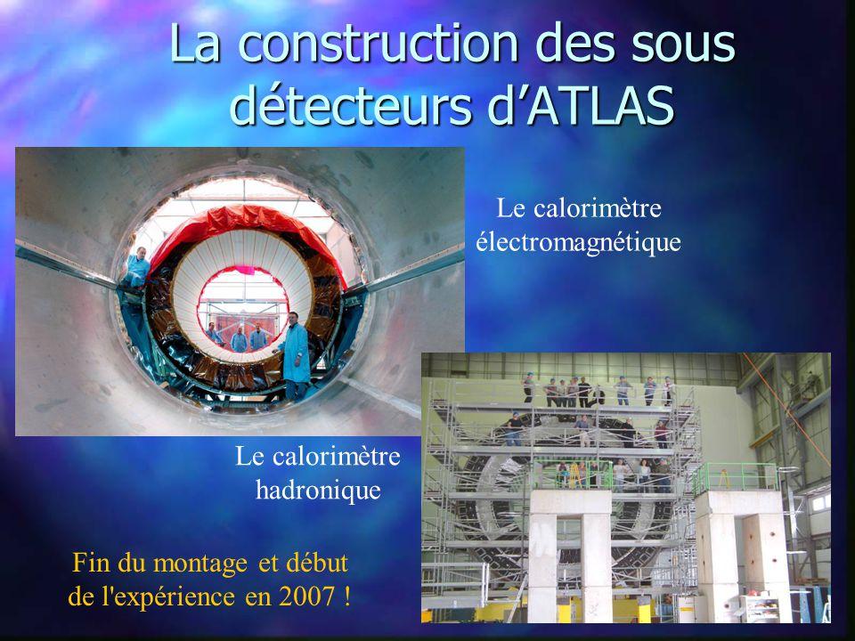 La construction dATLAS et du LHC Le tunnel du LHC Le site dATLAS Le puits dATLAS
