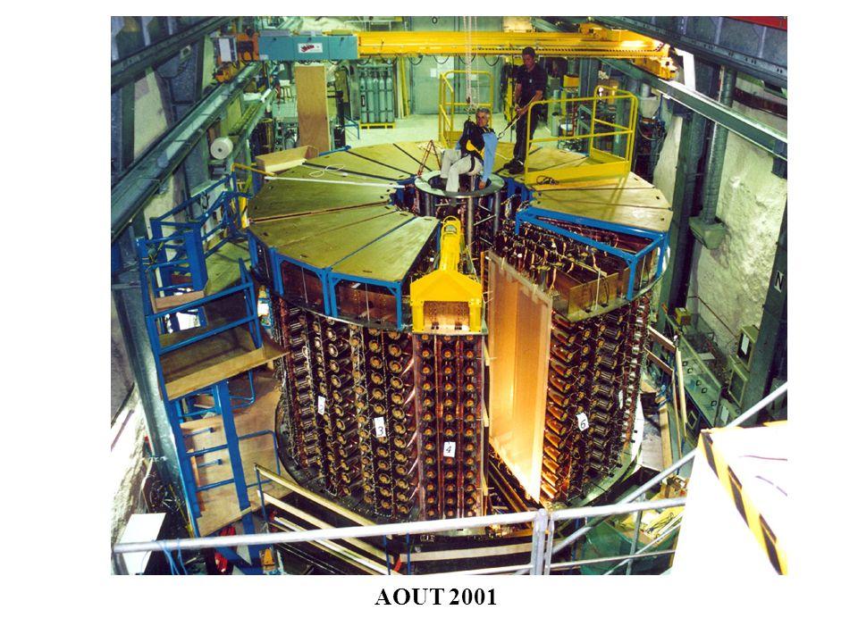 aimant Blindage en fer Réservoir deau bois Inauguration de NEMO-3, Juillet 2002 Début de prise de données 14 Février 2003