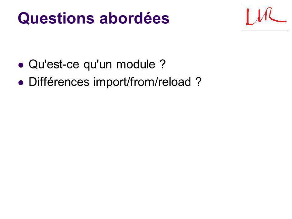 Définition Tout programme python peut-être décomposé en multiples modules.