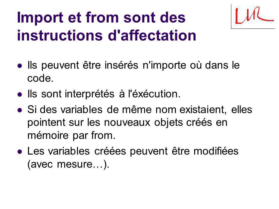 Quizz (1/3) m = 2 … import module1 as m m prompt = % def printer(x) print prompt, x prompt = % def printer(x) print prompt, x module1.py > Hello .