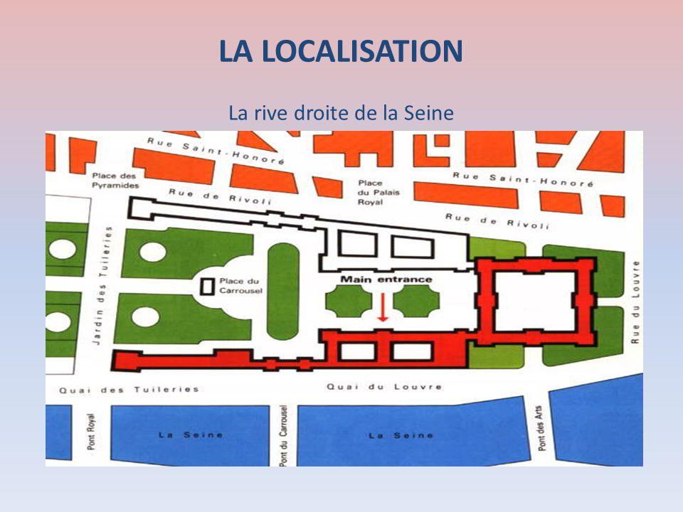 LA LOCALISATION La rive droite de la Seine