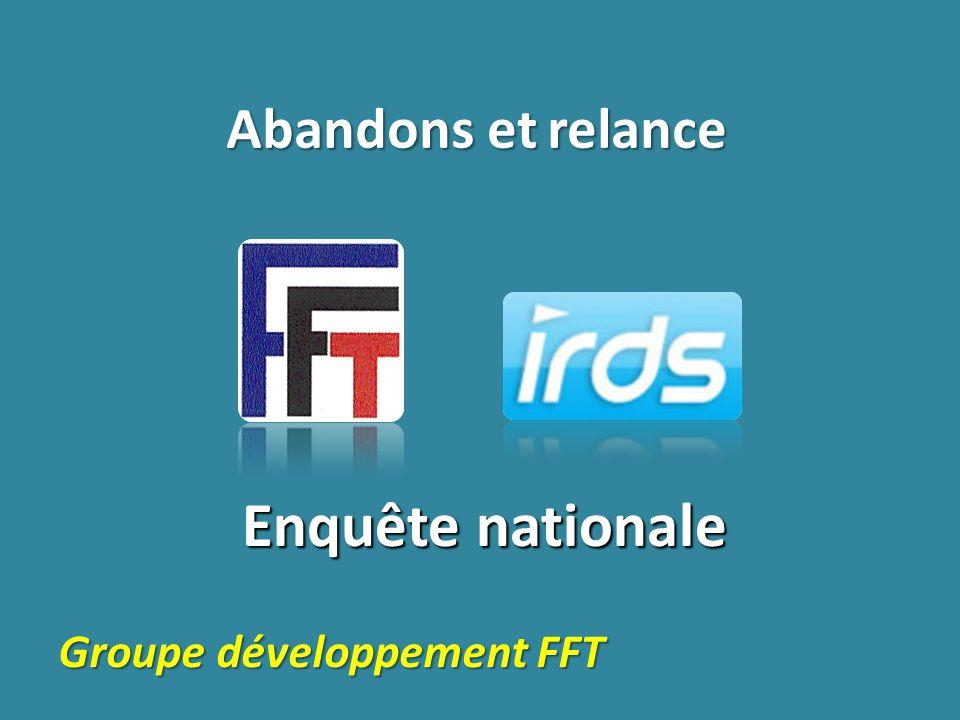 Enquête nationale Abandons et relance Groupe développement FFT