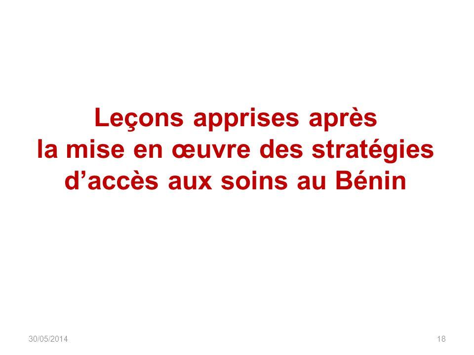 Leçons apprises après la mise en œuvre des stratégies daccès aux soins au Bénin DIU_VIH_Burundi_Juin_2013 1830/05/2014