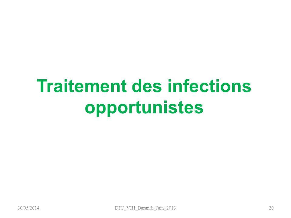 Traitement des infections opportunistes DIU_VIH_Burundi_Juin_20132030/05/2014