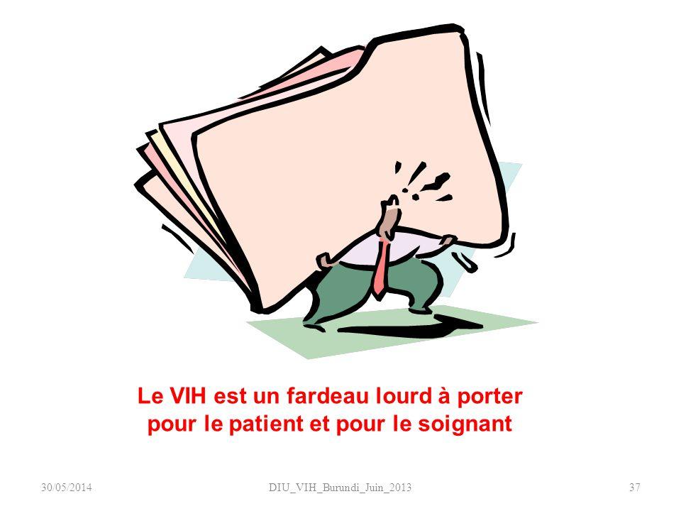 DIU_VIH_Burundi_Juin_201337 Le VIH est un fardeau lourd à porter pour le patient et pour le soignant 30/05/2014