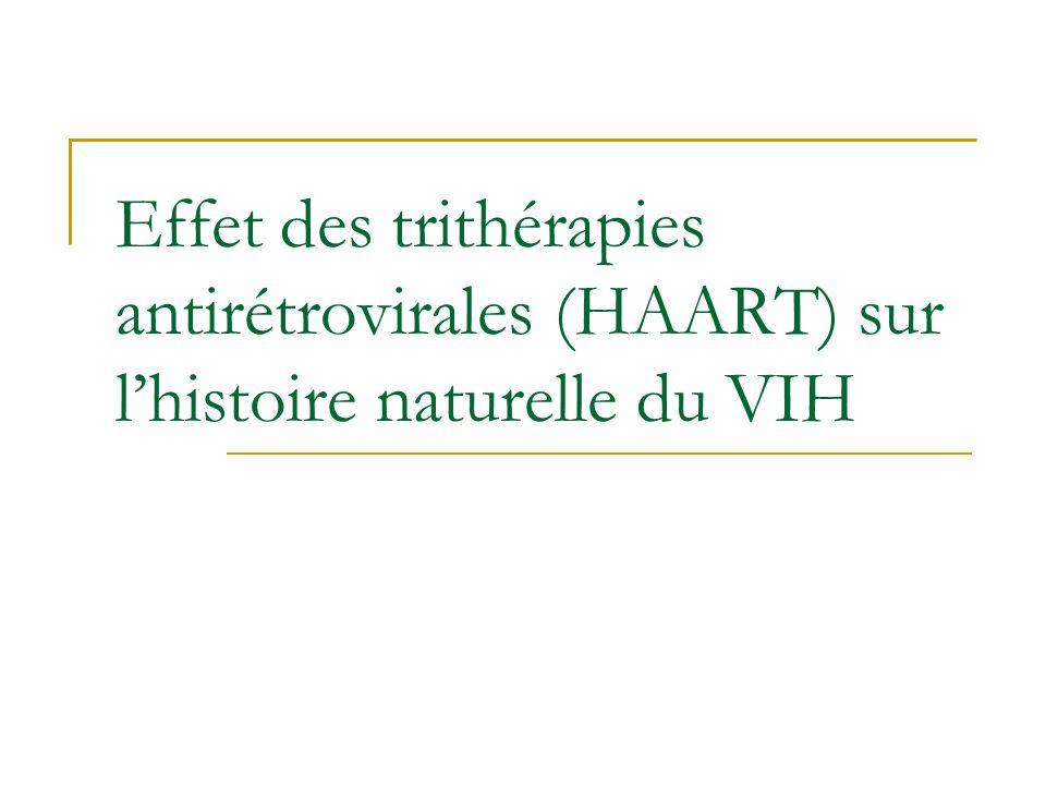 Effet des trithérapies antirétrovirales (HAART) sur lhistoire naturelle du VIH