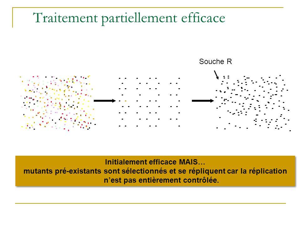 Mécanismes impliqués dans lémergence des résistances Réplication virale en présence des antiviraux